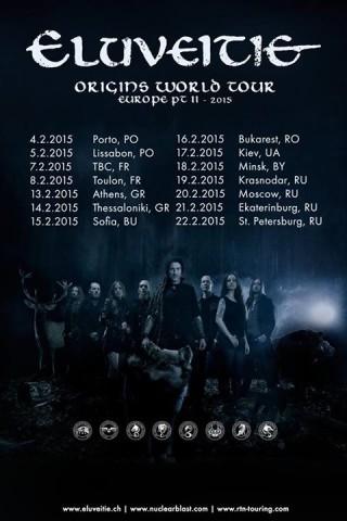 Группа Eluveitie объявила даты тура на 2015 год