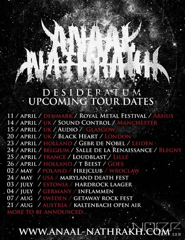 Anaal Nathrakh announces European and North American tour dates