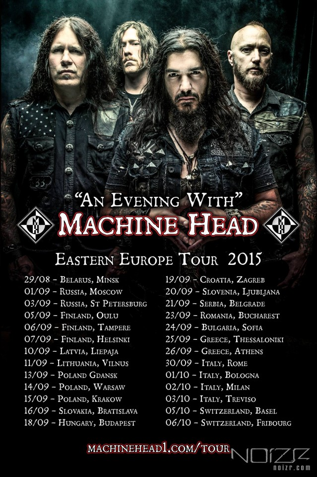 Machine Head объявили восточноевропейский тур