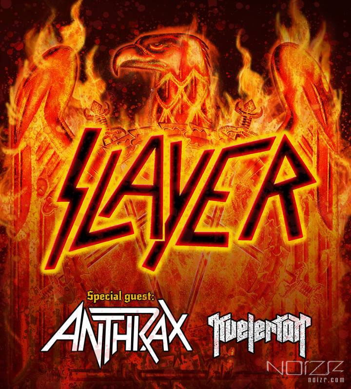 Slayer, Anthrax і Kvelertak відіграють спільні концерти в Європі