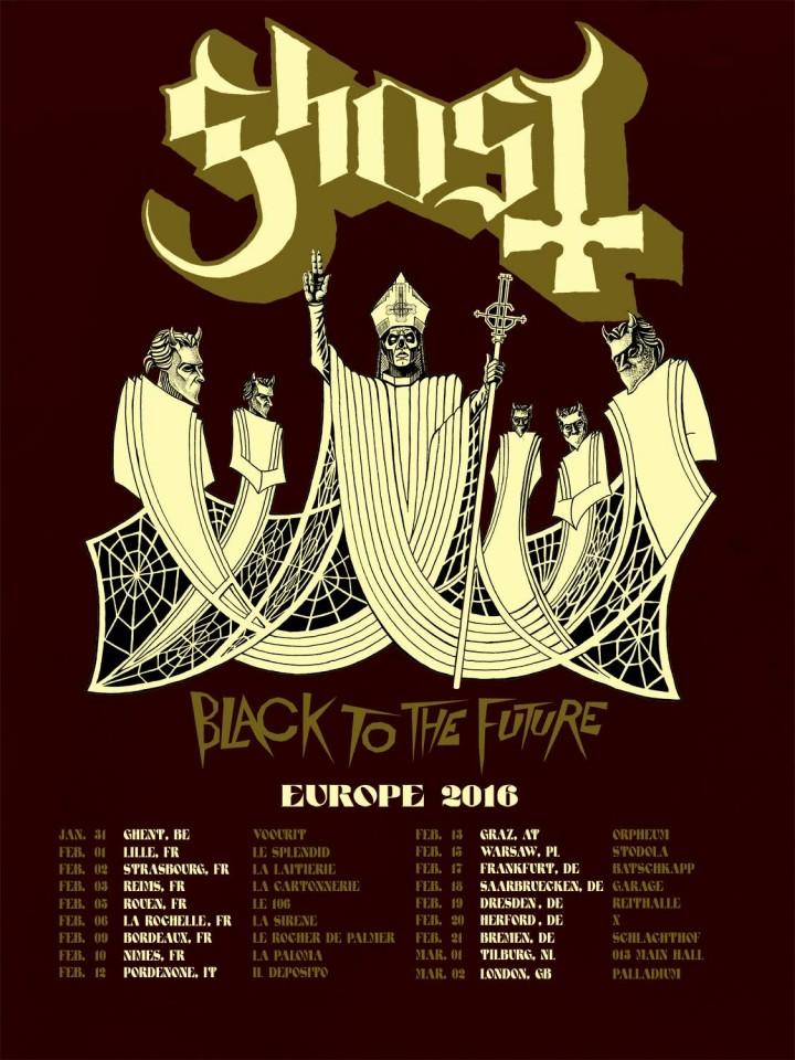 Ghost announce first 2016 European tour dates