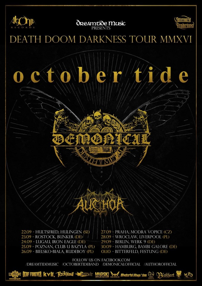 October Tide Demonical Tour