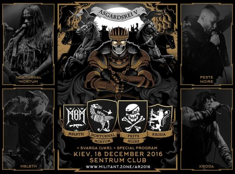 Nokturnal Mortum, Peste Noire, M8L8TH, Kroda and Svarga are to perform at festival in Kyiv