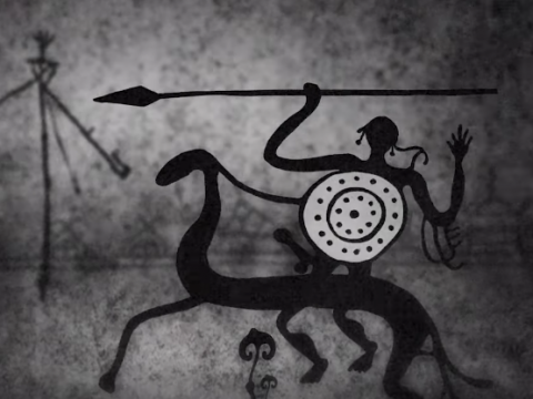 "Heilung present animated video ""Krigsgaldr"""