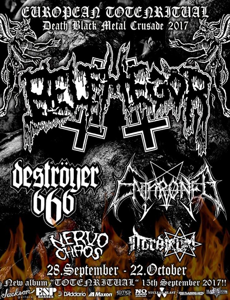 Belphegor announce European tour feat. Enthroned, Deströyer 666, Nervochaos, and Nordjevel