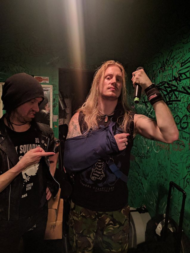 DragonForce's vocalist injured after jumping out of moving van