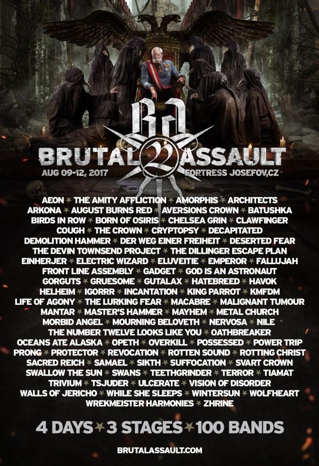9-12.08.2017 Brutal Assault @ Фортеця Йозефів, Яромерж, Чехія