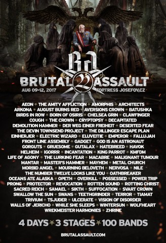 9-12.08.2017 Brutal Assault @ Fortress Josefov, Jaromer, Czech Republic
