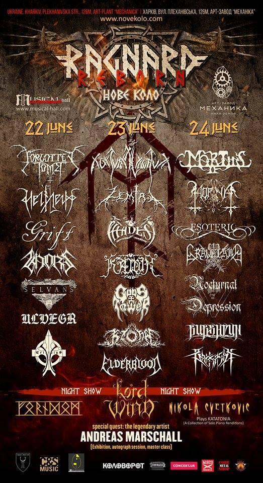 Ragnard Reborn Nove Kolo, feat. Forgotten Tomb, Nokturnal Mortum, Horna, etc., to be held this June in Ukraine