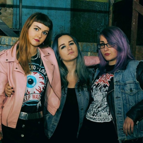 "March 8 release: All-female trio Death Pill presents EP ""Miss Revolt"""