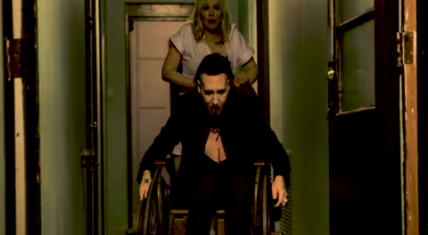 "Marilyn Manson releases video ""Tattooed In Reverse"" feat. Courtney Love"
