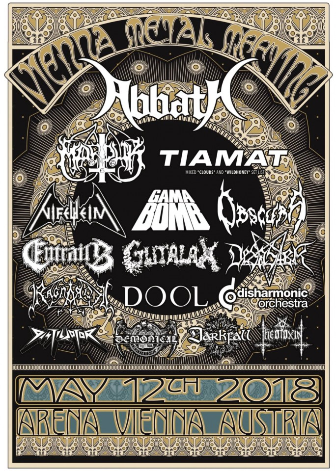 Vienna Metal Meeting, feat. Abbath, Tiamat, and Marduk, to take place on May 12