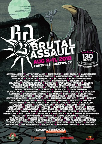 8-11.08.2018 Brutal Assault @ Fortress Josefov, Jaromer, Czech Republic