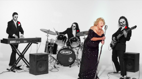 Granny goes metal: Inge & the TritoneKings with 96-year-old frontwoman