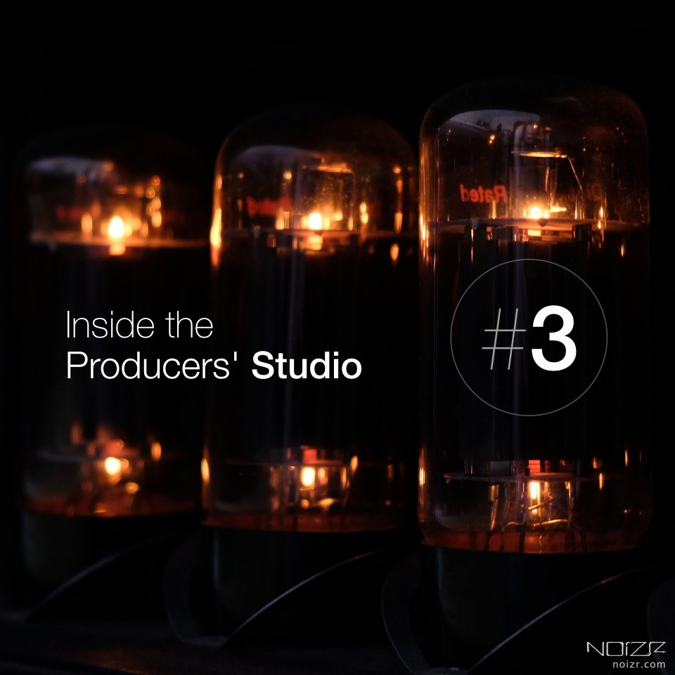 Inside the Producers' studio. Recording drums
