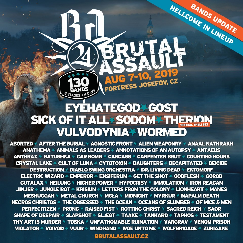 Brutal Assault 2019: Анонс новых групп и видео с выступления Insanity Alert