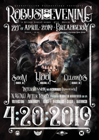 Robustfellow gig feat. Udol, Celophys, and Soom to be held in Kyiv on April 20