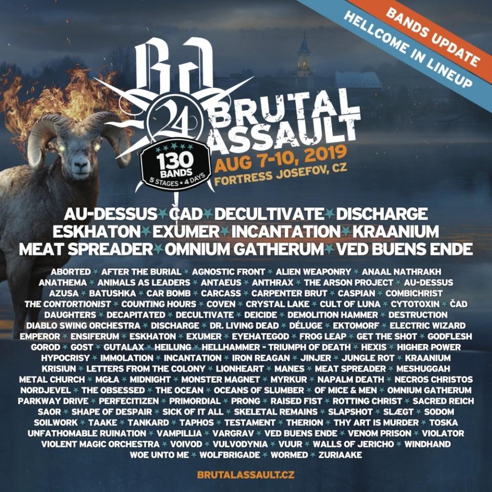 Brutal Assault announces Incantation, Eskhaton, Au-Dessus, and Omnium Gatherum