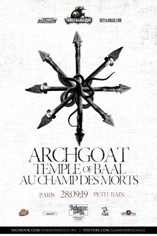 Archgoat відсвяткують 30-річчя концертом у Парижі 28 вересня