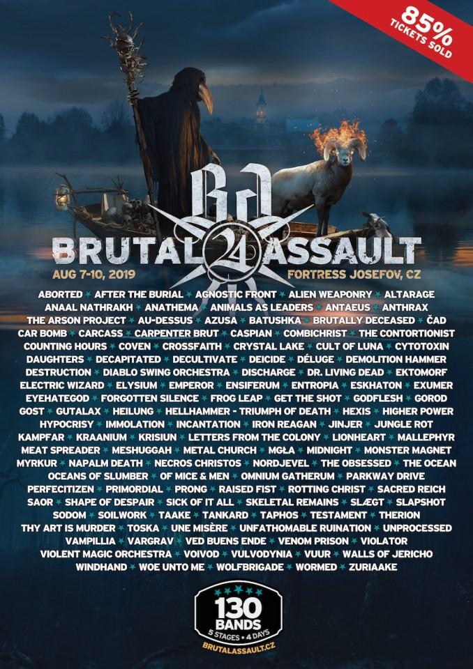 7-10.08.2019 Brutal Assault @ Крепость Йозефов, Яромерж, Чехия