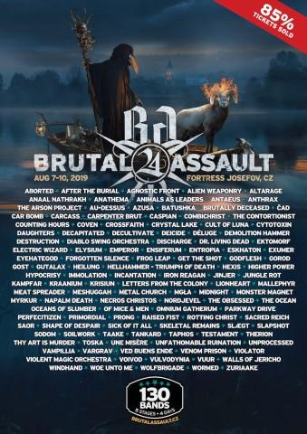 7-10.08.2019 Brutal Assault @ Фортеця Йозефів, Яромерж, Чехія