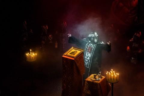 Batushka held grim mass in Kyiv