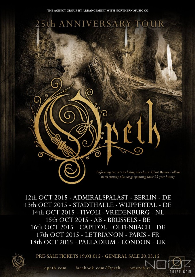 Opeth announce six additional shows to celebrate the band's 25th anniversary