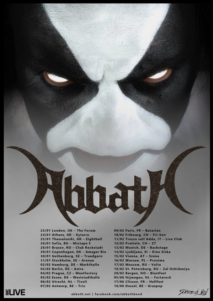 Abbath European tour 2016