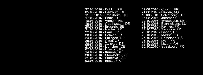 Mgla European tour dates 2016