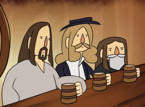 "Korpiklaani present animated parody video ""A Man With A Plan"""