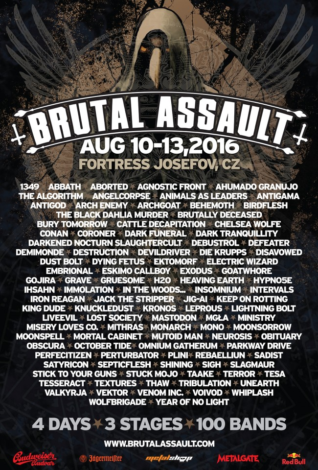21st edition of Brutal Assault attracted over 100 bands