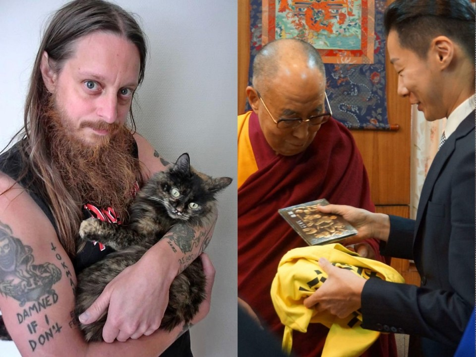 Photos taken from clrvynt.com and facebook.com/chthonictw — Darkthrone singer voted into town council, and Chthonic leader met with Dalai Lama