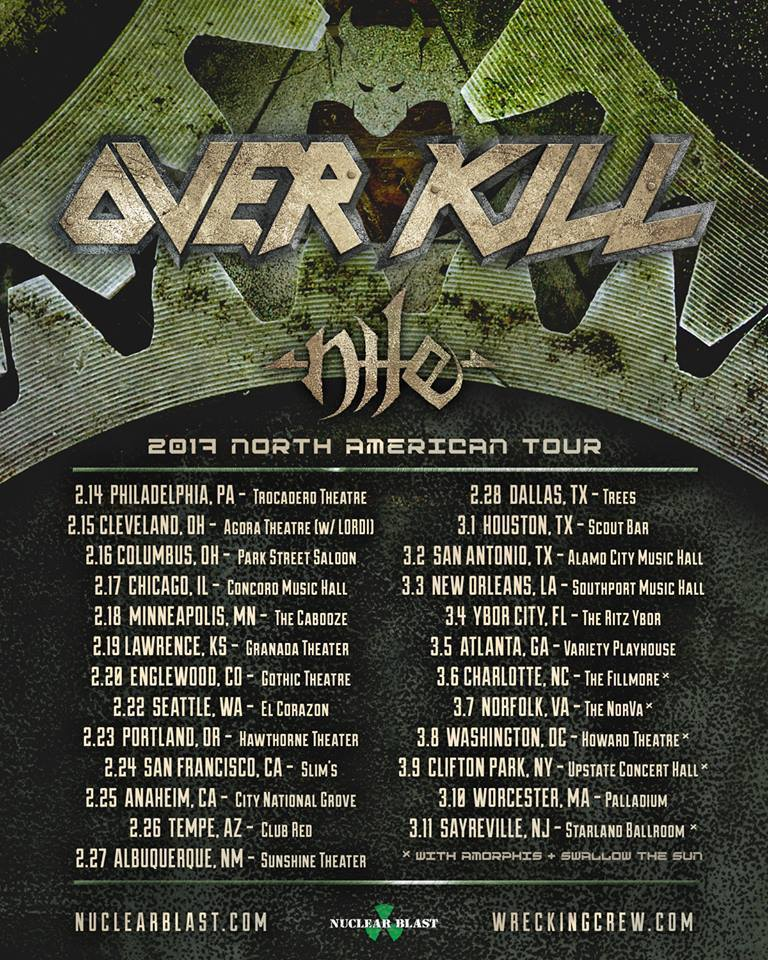 Nile Overkill Tour