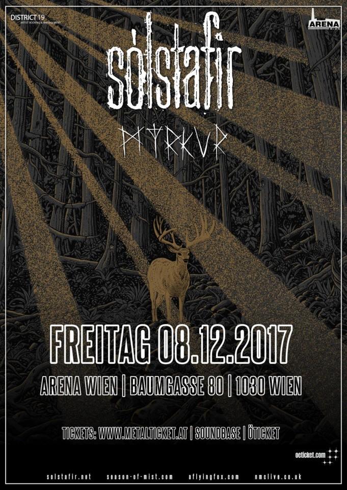 Sólstafir and Myrkur to perform in Vienna on December 8