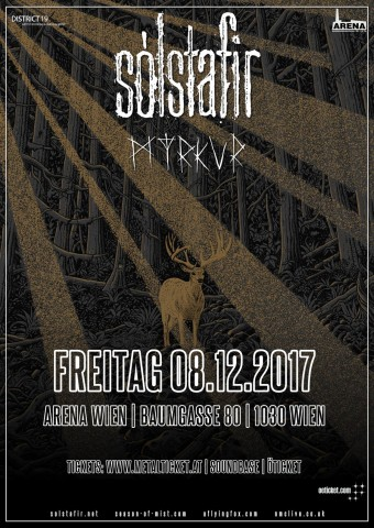 Sólstafir and Myrkur to perform in Vienna on December 8