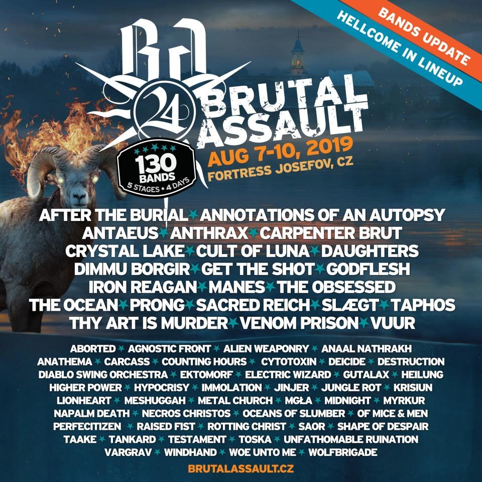 Brutal Assault 2019 announces new bands
