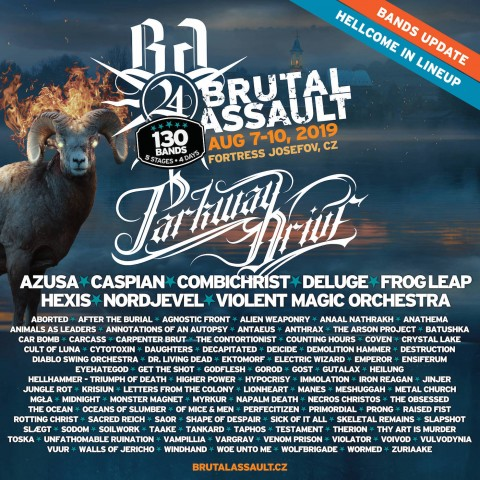 Brutal Assault 2019: Анонс новых групп Parkway Drive, Combichrist, Nordjevel и других