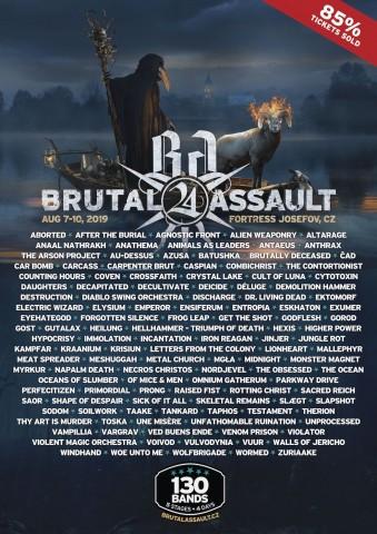 Фестиваль Brutal Assault анонсував фінальний андеґраундний склад