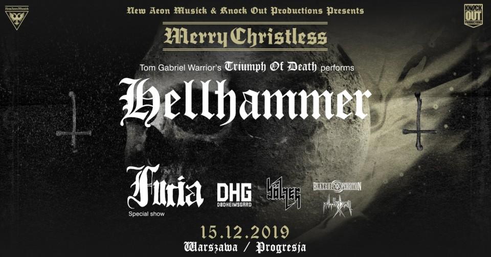 15 грудня у Варшаві відбудеться Merry Christless з Hellhammer, Furia і Bölzer