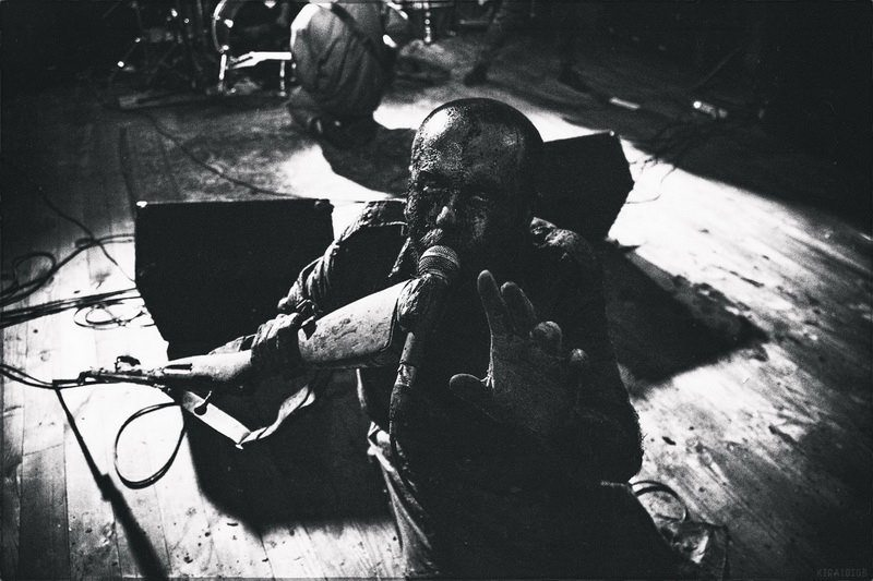 """1914 during live set — 1914's leader: """"Our music is not about all these ridiculous attributes of black metal"""""""