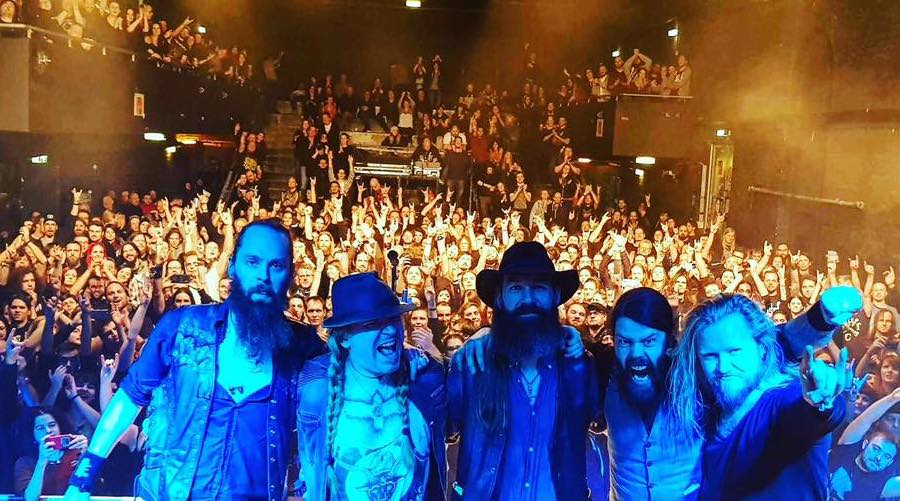 Photo taken from Sólstafir's Facebook page — Perfect evening: How Solstafir and Myrkur show in Vienna feat. Árstíðir and Nordic Giants was held